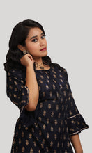 Load image into Gallery viewer, Navy Blue Daily Wear Kurti Set