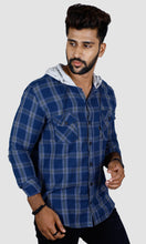 Load image into Gallery viewer, Men Hood Slim Fit Casual Shirts