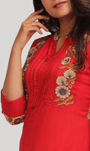 Load image into Gallery viewer, Red Daily Wear Kurti