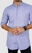 Load image into Gallery viewer, Men Linen Slim Fit Casual Shirts