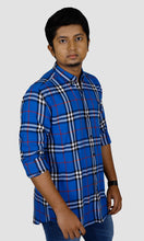 Load image into Gallery viewer, Men Big Checked Slim Fit Casual Shirts