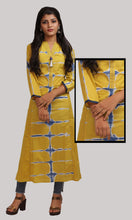 Load image into Gallery viewer, Key Lime With Tie and Dye Daily Wear Kurti