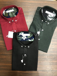 Men Solid Color Shirts