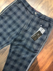 Men Tappered Check Chinos