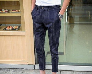 Men Stripe And Check Chinos