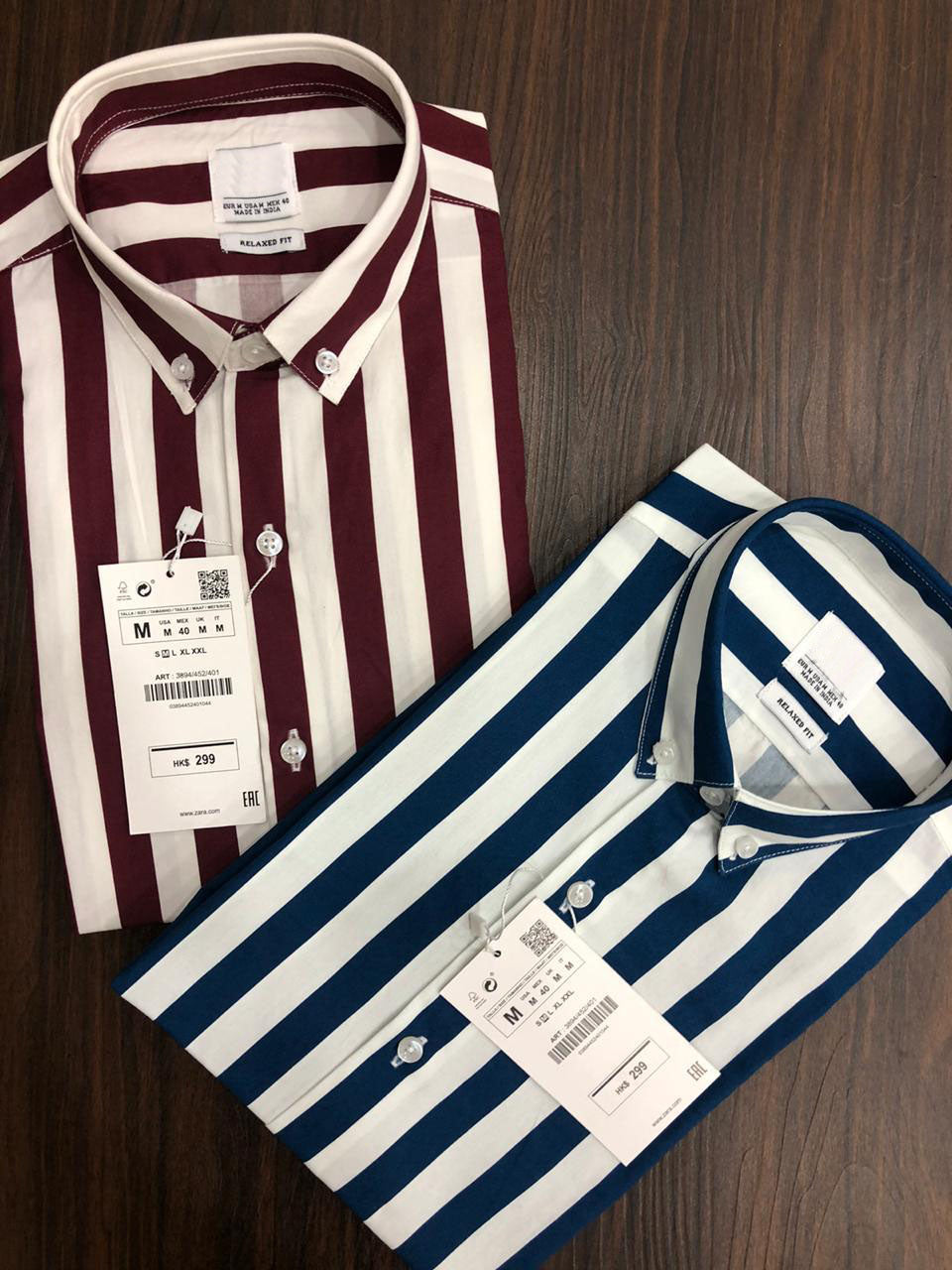Men Casual Thick And Thin Stripe Shirt