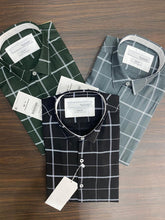 Load image into Gallery viewer, Men Triple Check Printed Shirt