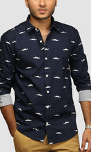Load image into Gallery viewer, Men Mustache Printed Casual Shirts