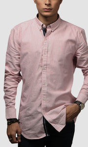 Men Stripe Cotton Casual Shirt