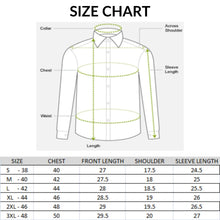 Load image into Gallery viewer, Men Dotted Print Slim Fit Casual Shirts
