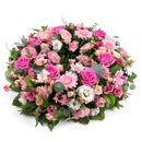 Pink Reflection Wreath. Soft pink tones and wispy foliage. Get fresh flowers from Flowers.IE. Same day flower delivery available.