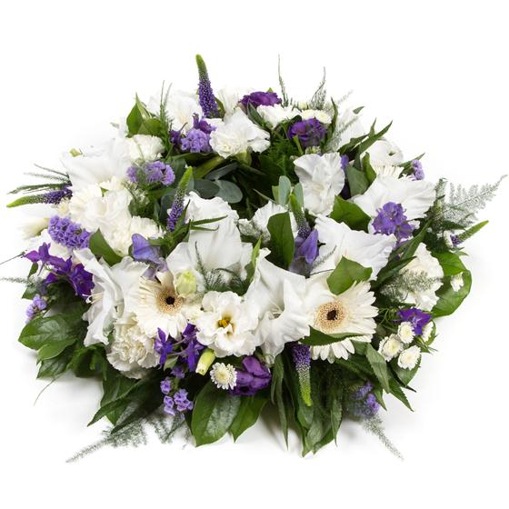 Purple & White Reflection Wreath