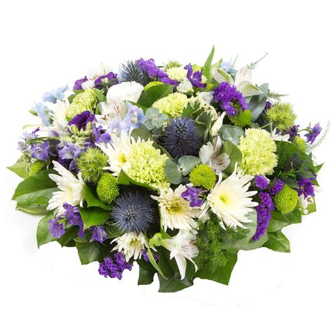 Purple, Green & White Arrangement