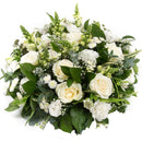 White Reflection Arrangement. White and cream flowers with roses. Get fresh flowers from Flowers.IE. Same day flower delivery available.