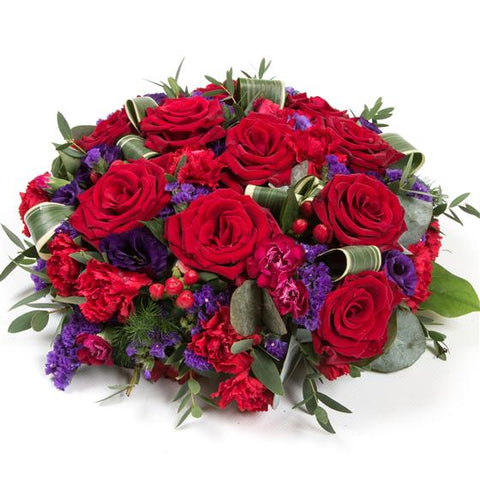 Red Rose & Purple Posy