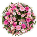 Pink Reflection Wreath. Have fresh flowers sent to you by Flowers.IE. Same day flower delivery available.