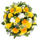 Yellow & White Posy Pad. Have fresh flowers sent to you by Flowers.IE. Same day flower delivery available.