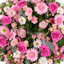 Pink Reflection Wreath. Beautiful eternal ring. Send fresh flowers with Flowers.IE. Same day flower delivery available.
