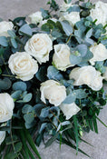 Simple White Rose Sheaf. Our flowers are sourced from finest farms. Send fresh flowers with Flowers.IE. Same day flower delivery available.
