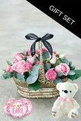 Pink Bundle Basket with Teddy and Balloon (3)