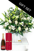 Wonderfully white in a Ceramic Vase with Piper-Heidsieck Champagne