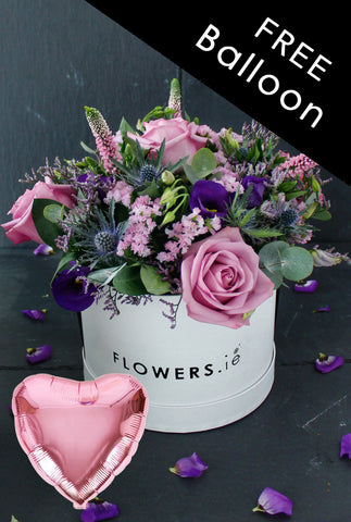 Lavender Floral Hatbox with free Balloon