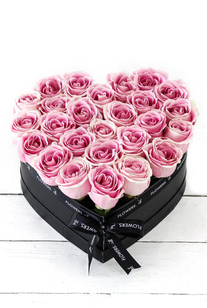 Light Pink Roses in a Small Heart-shaped