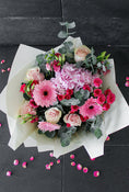 Pink Perfection Hand-tied. Standard is 14 stems, Medium has 20 stems and Large has 25 stems. Send fresh flowers with Flowers.IE. Same day flower delivery available.