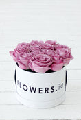 Purple Rose Hatbox. A perfect gift for all kind of occasions. Send fresh flowers with Flowers.IE. Same day flower delivery available.