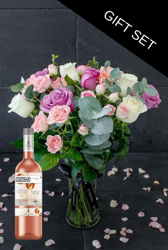Soft Pastel in a Vase with Monastrell Rosado