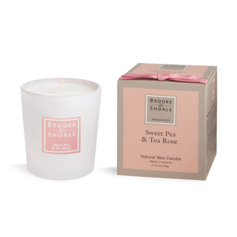 Brooke and Shoals Sweet Pea and Tea Rose candle