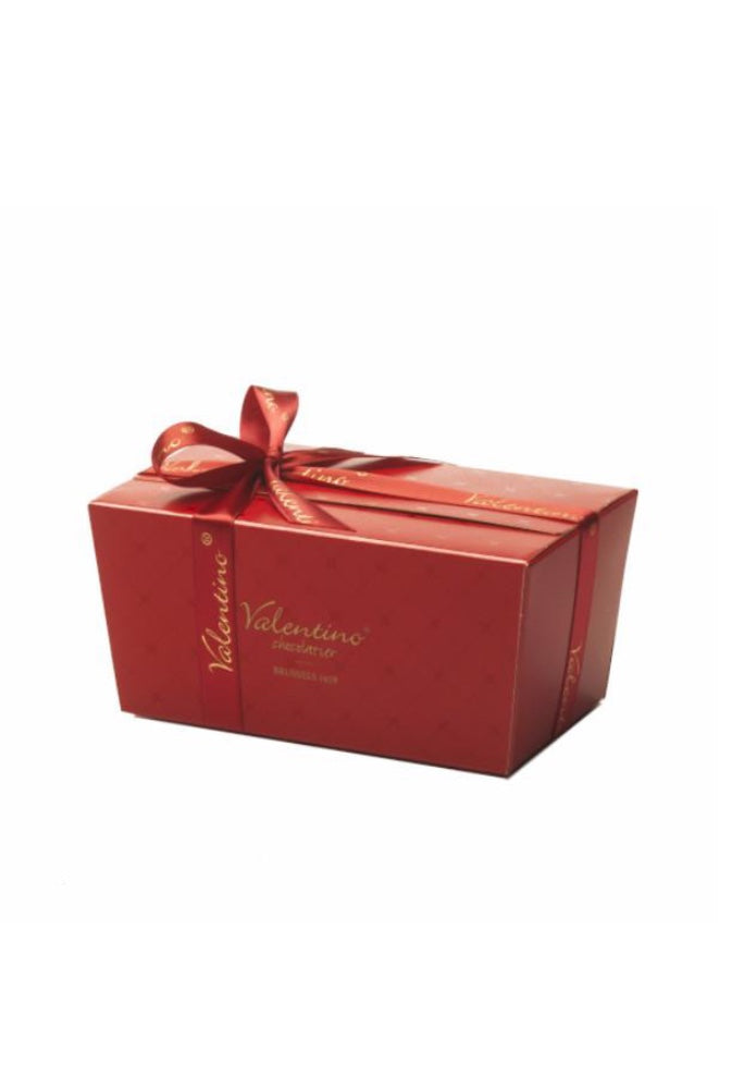 Dozen Red Deluxe Hatbox with Chocolates & Wine