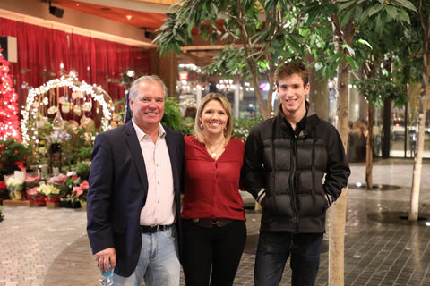 Bruce Mullen (Left), Amanda Schofield (Center), Brandon Mullen (Right)