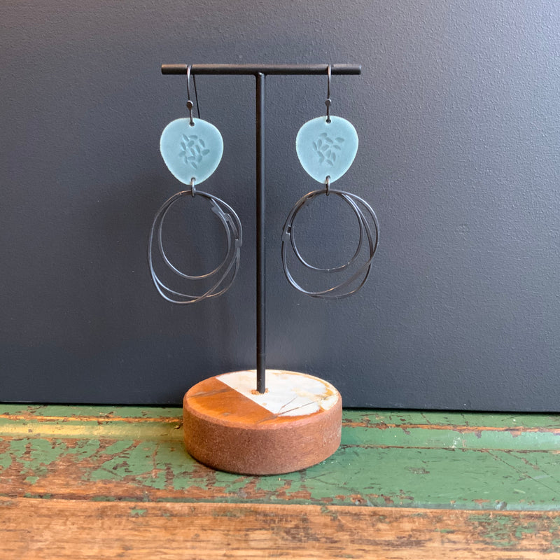 Flotsam Earrings with Loops 'Grey'