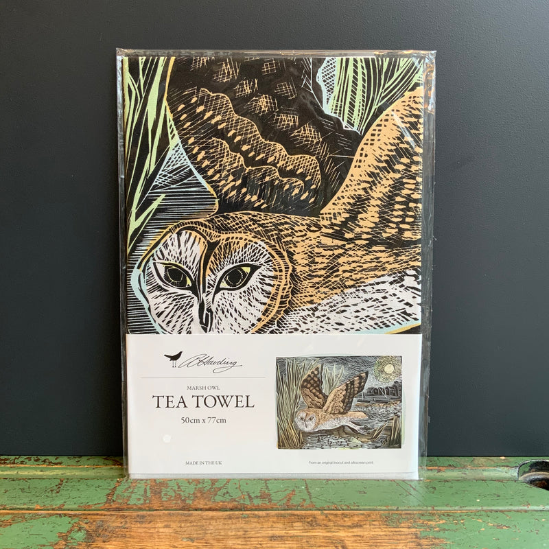 Angela Harding Tea Towel 'Marsh Owl'