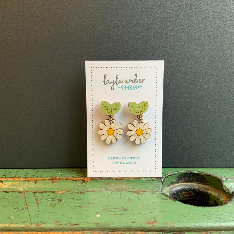 In Bloom Drop Stud Earrings 'Wild Daisy'