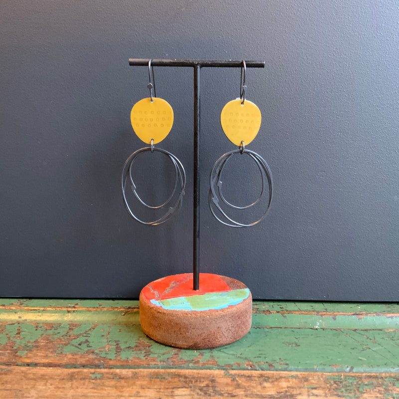 Flotsam Earrings with Loops 'Yellow'