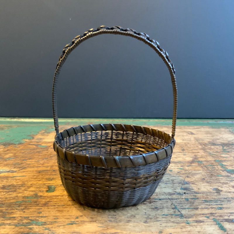 Vintage Woven Wire Basket