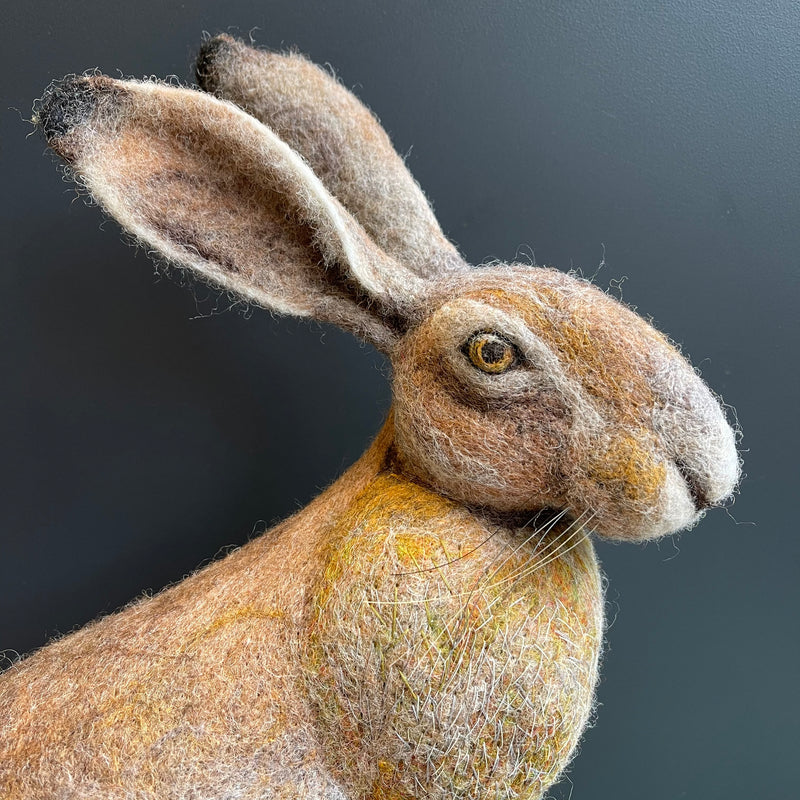 Needle Felted 'Sitting Hare'