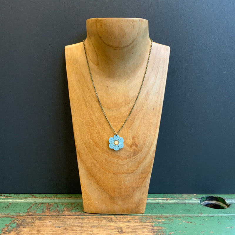In Bloom Single Pendant Necklace 'Forget-me-not'