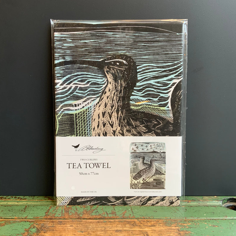 Angela Harding Tea Towel 'Two Curlews'