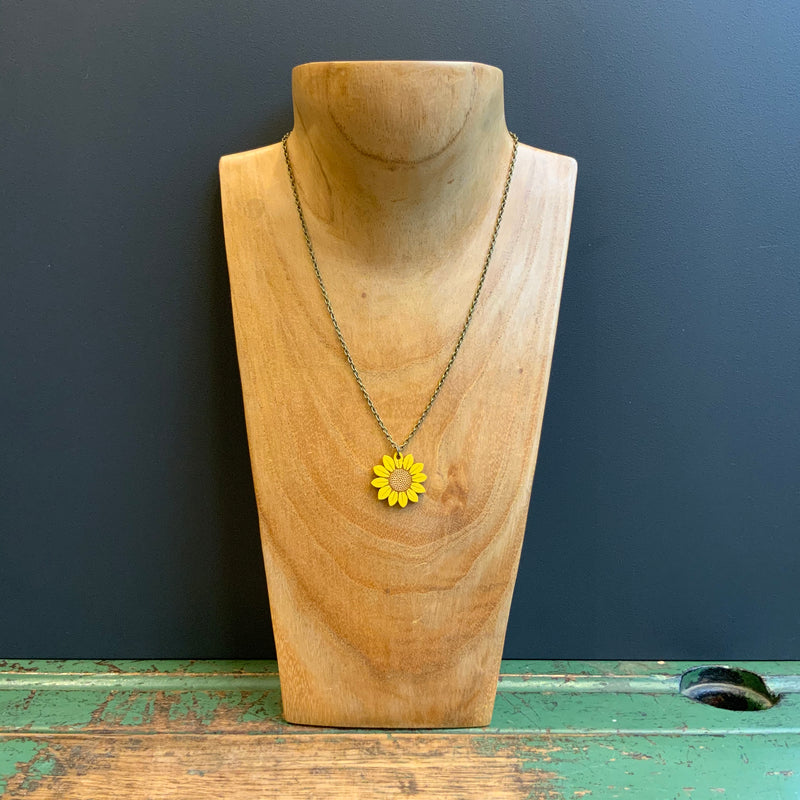 In Bloom Single Pendant Necklace 'Sunflower'