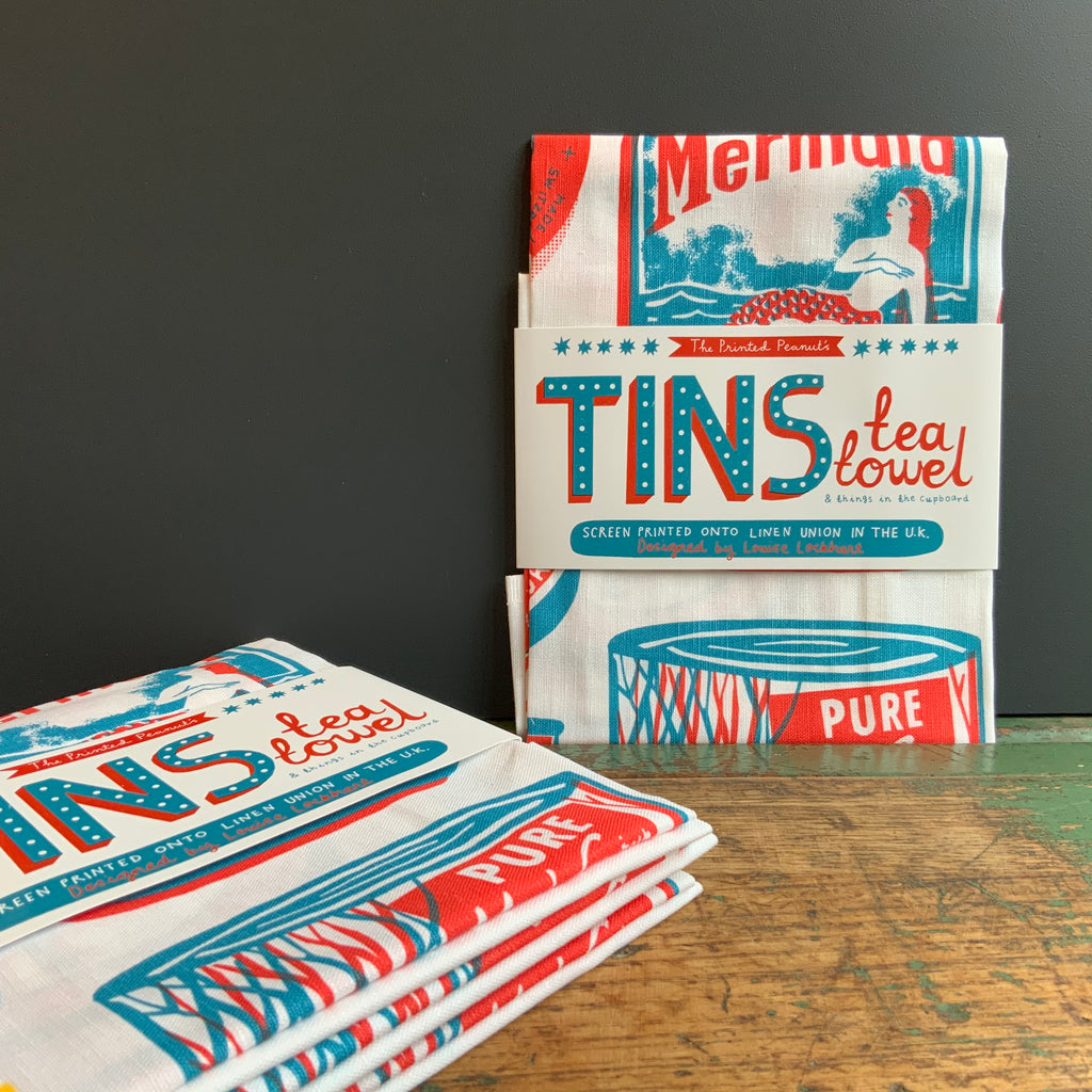 Tea Towel 'Tins'