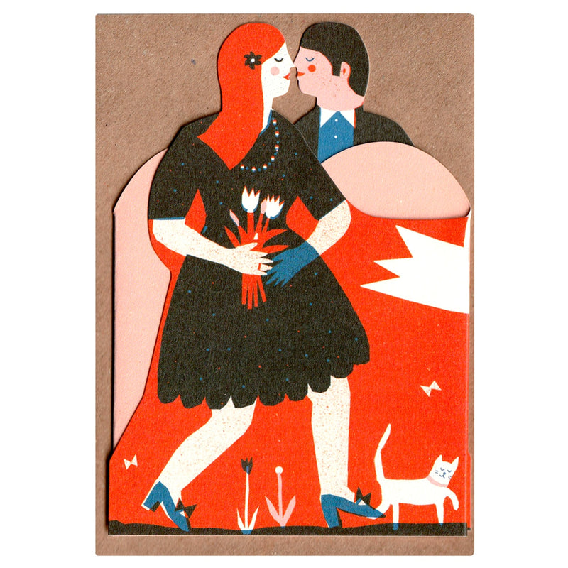Concertina Heart Card 'Man and Woman'