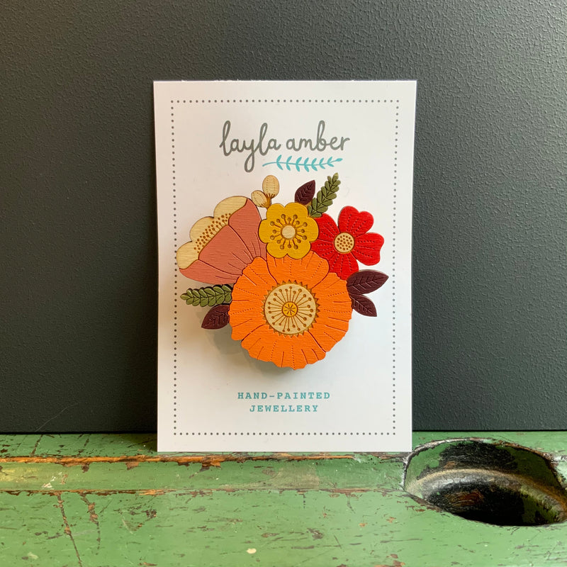 In Bloom Brooch 'Autumn Posy'