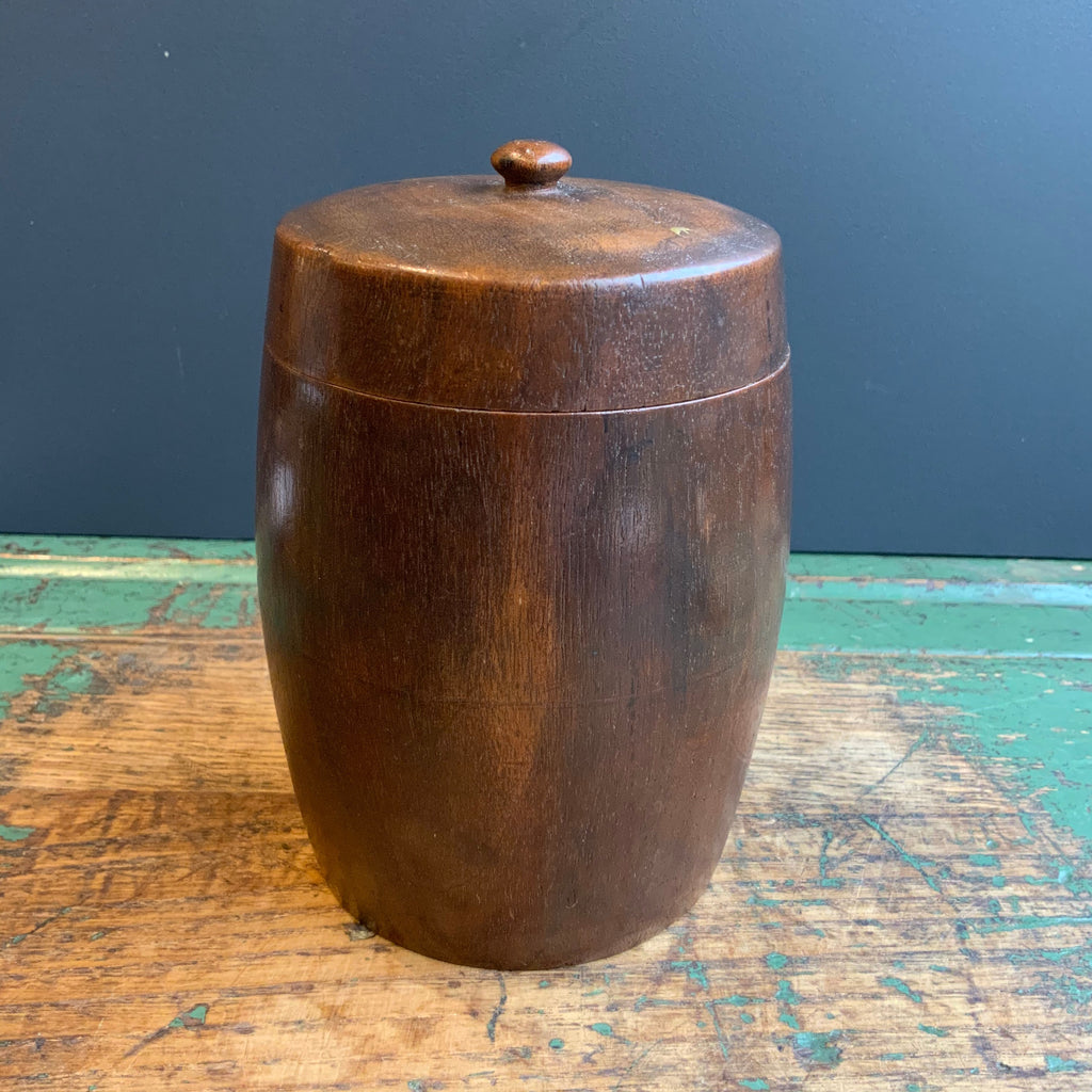 Vintage Indian Wooden Tobacco Pot