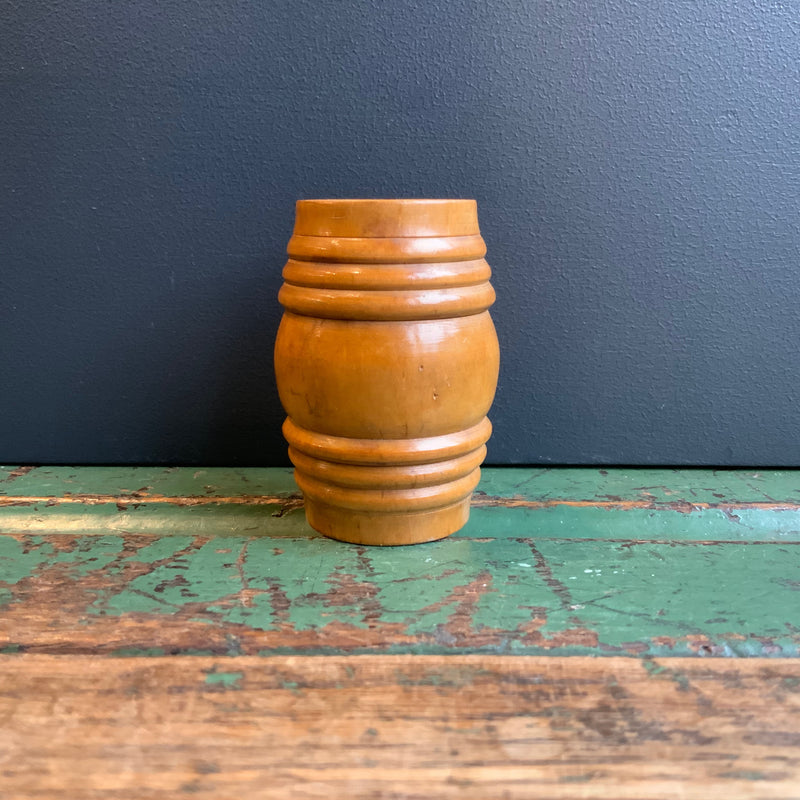 Vintage Treen Barrel with Miniatures