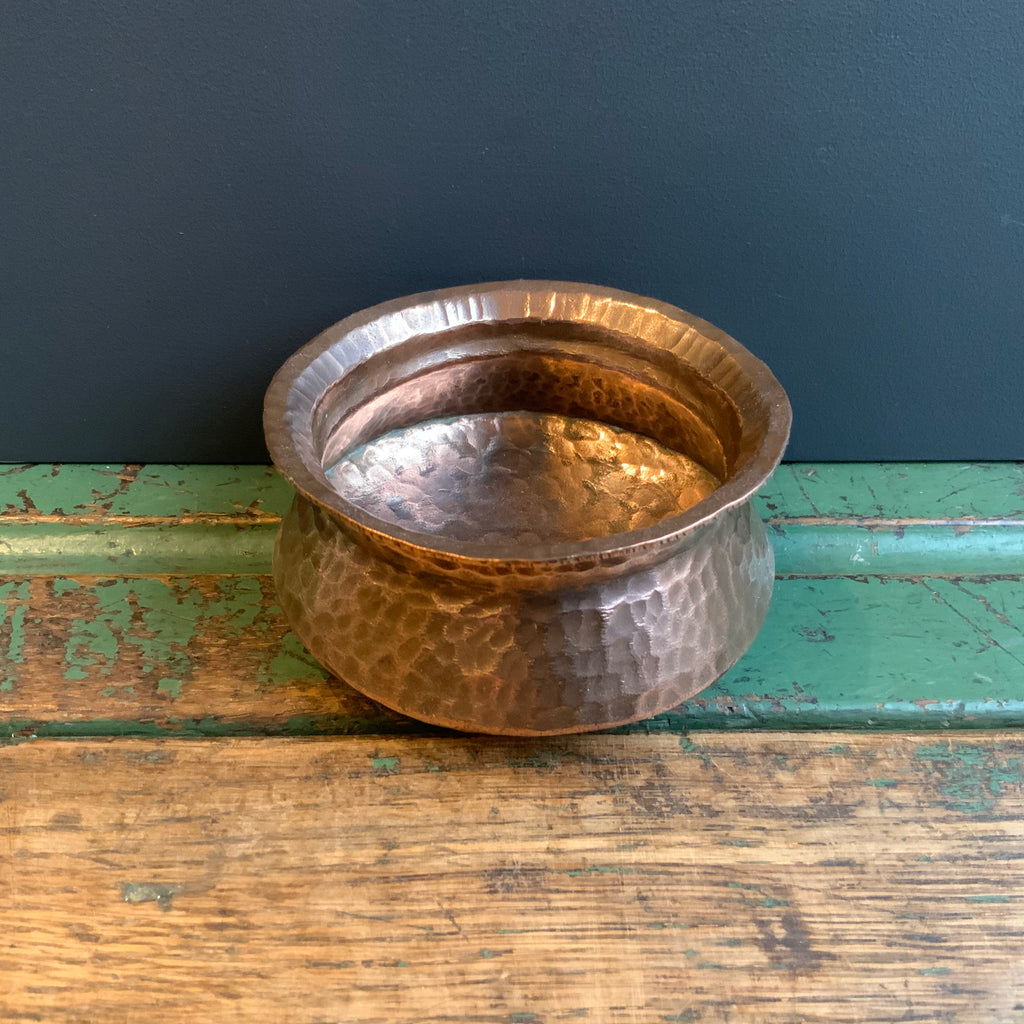 Vintage Hammered Copper Bowl
