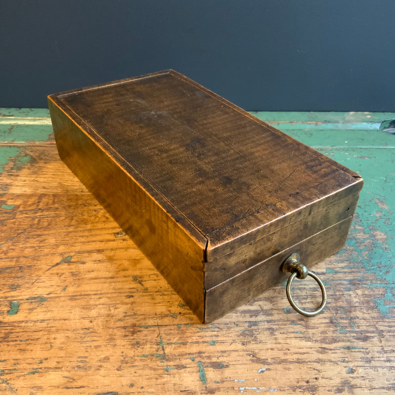 Vintage Wooden Box with Ephemera