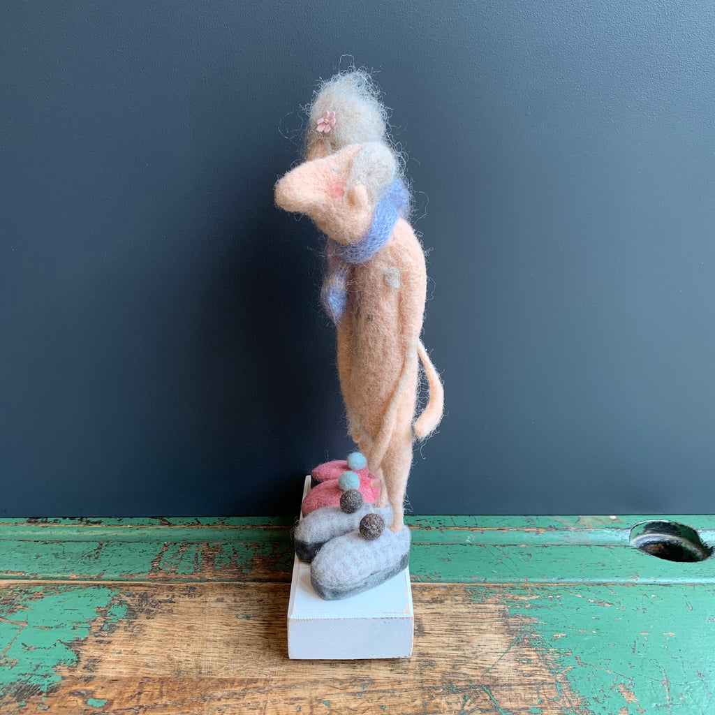 Nude Figures 'Howard & Hilda' Felt Sculpture